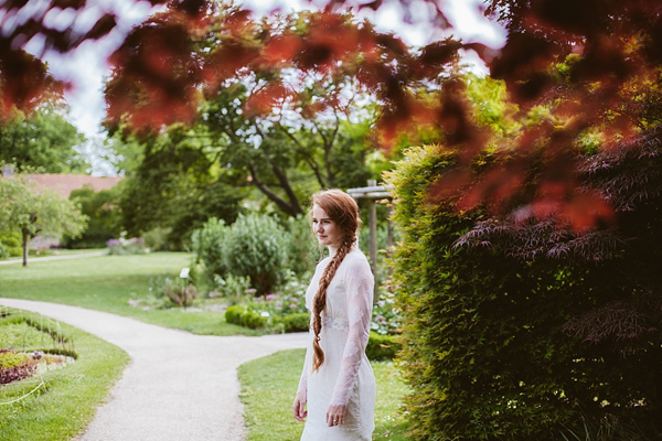 Edwardian inspired bride, antique style wedding, something old wedding, vintage wedding, red haired bride