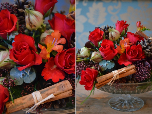 How To Create Your Own Christmas Table Centrepiece, by Campbells Flowers (DIY Projects )
