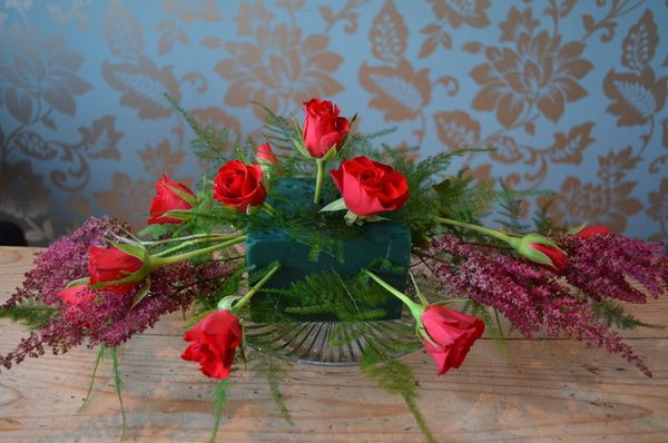 Christmas Table Centrepiece DIY Tuturial by Campbells Flowers-14