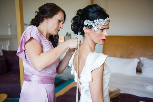 1930s Art Deco Inspired Wedding, Belle & Bunty Wedding Dress, Lila Headpiece, Photography by Especially Amy