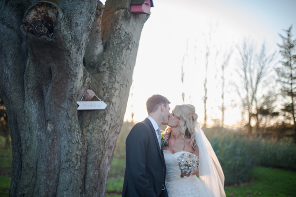 A Brooch Bouquet And Pretty Pink Accents for a Newton Hall Wedding in Northumberland (Weddings )