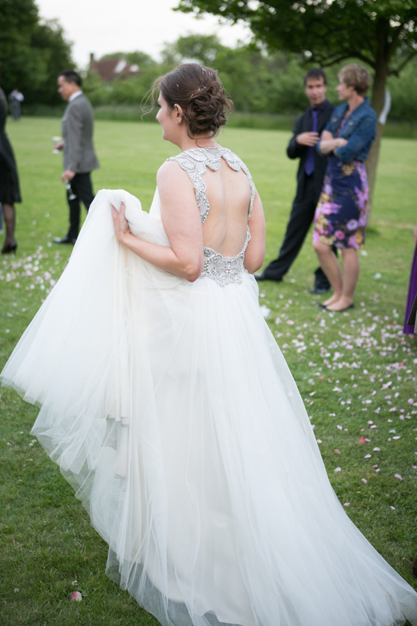 Blaire by Jenny Packham for an elegant wedding at the Henry Moore Foundation in Hertfordshire // Story Wedding Photography