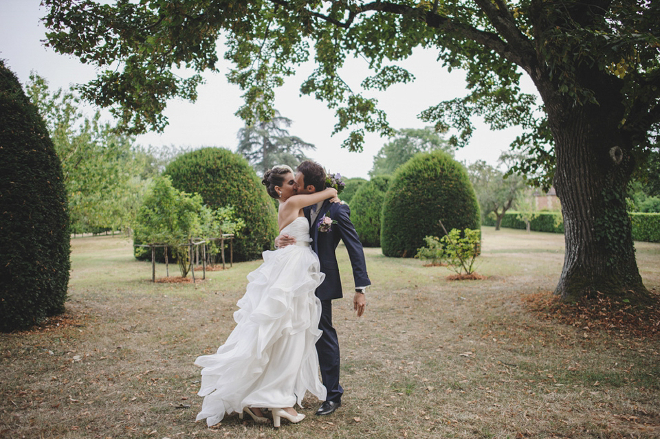 A Reem Acra Gown for a Romantic and Rustic, New Orleans Jazz Inspired French Château Wedding (Weddings )