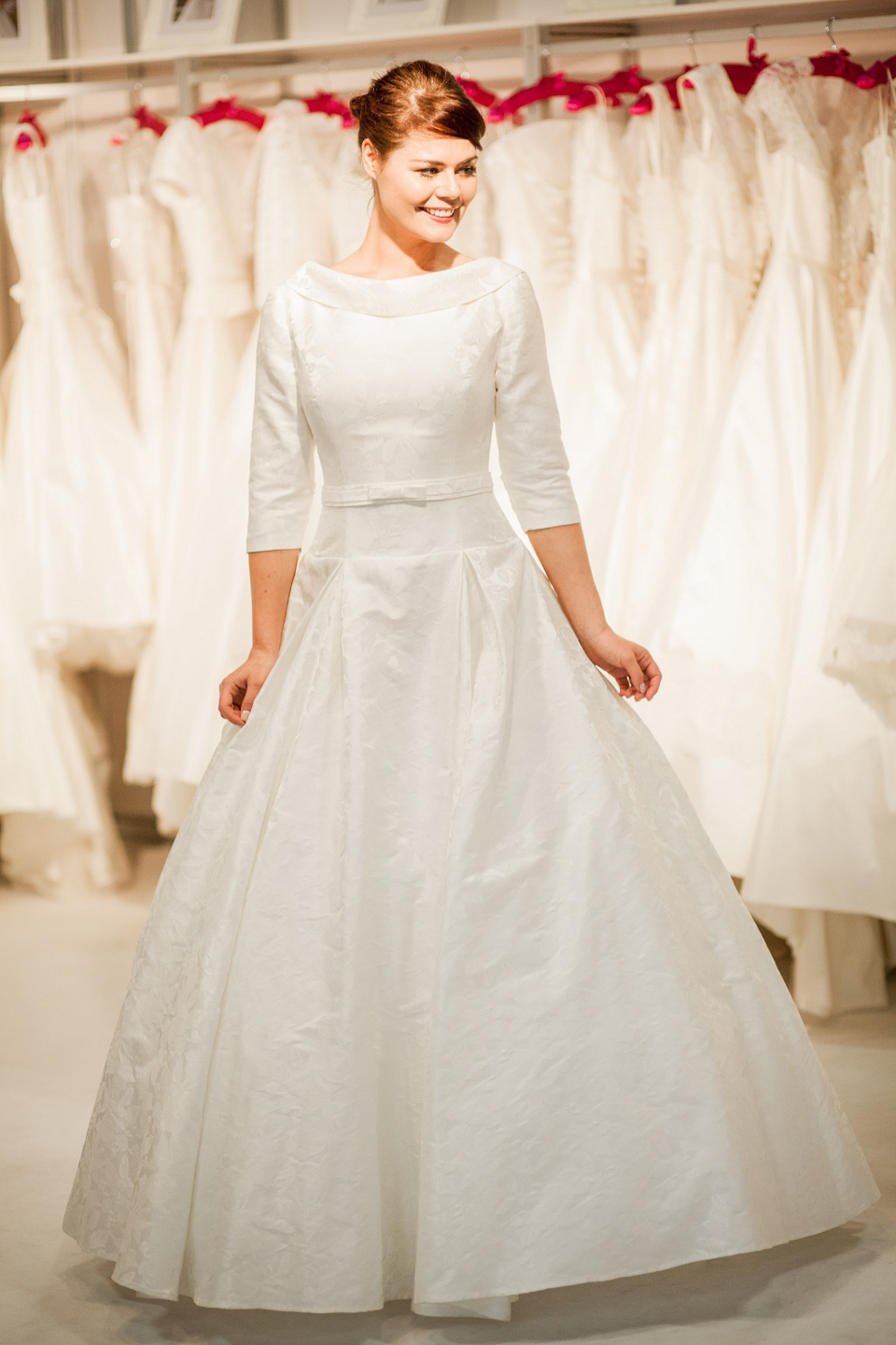 Blue Bridalwear wedding dresses at The White Gallery, London, April 2014
