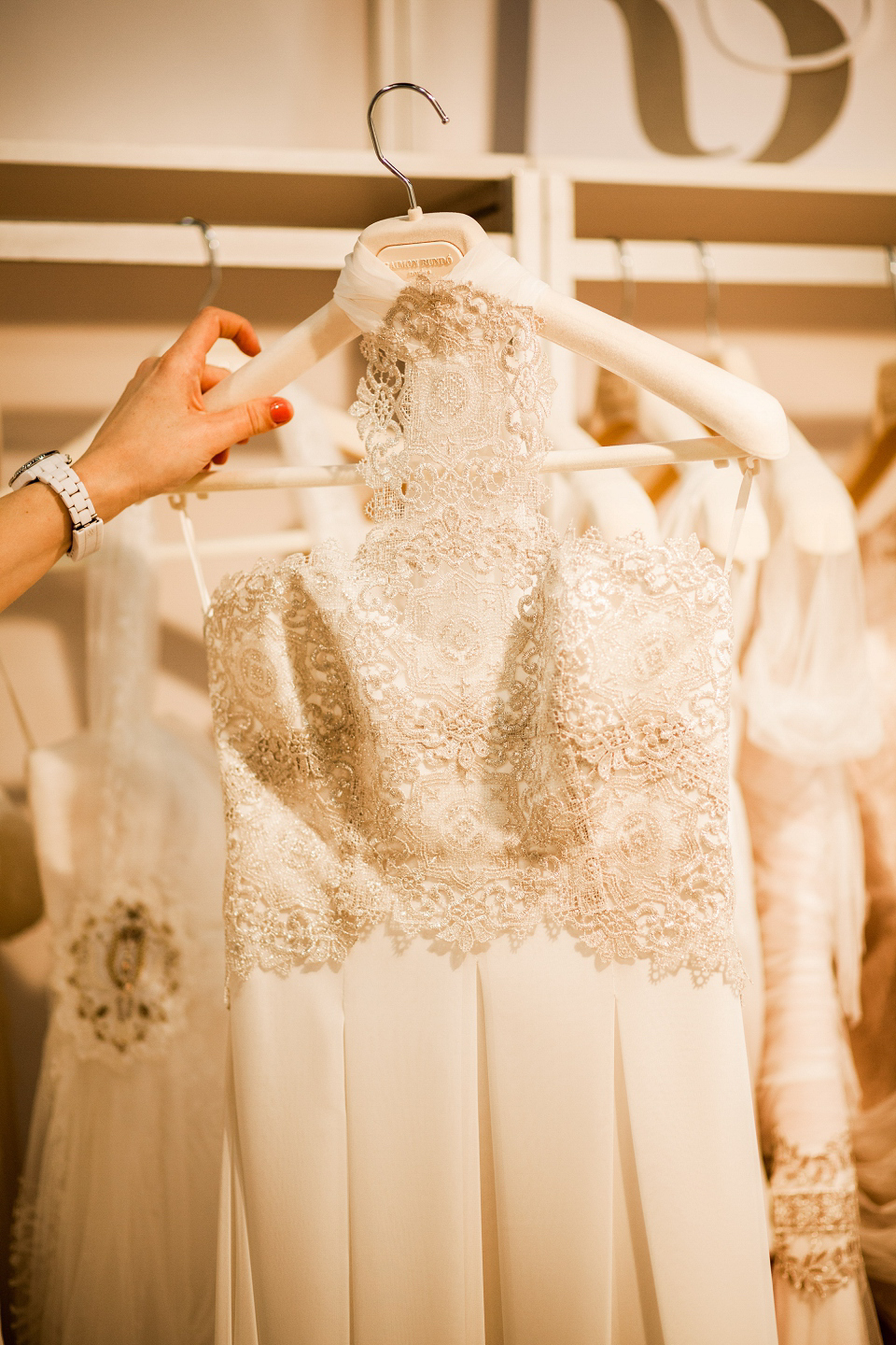 Raimon Bundo wedding dresses at The White Gallery, London, April 2014