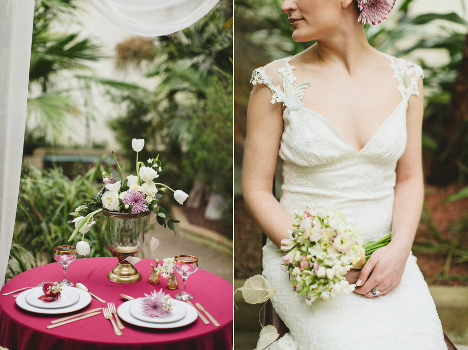 Claire Pettibone's 'Still Life' Collection ~ Ethereal and Whimsical Wedding Dresses (Bridal Fashion Styled Shoots )