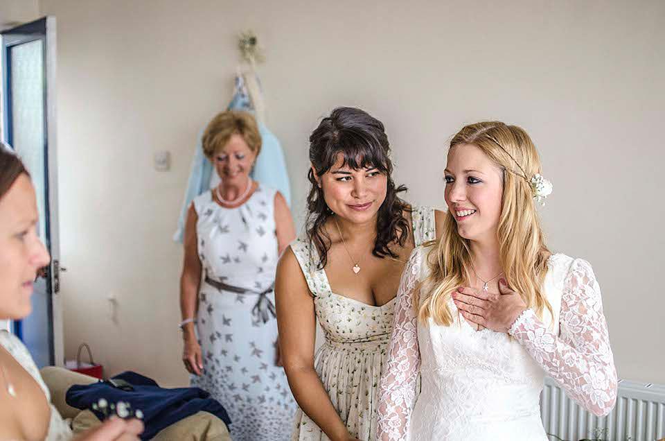 A Charlotte Balbier Dress for a Misty Welsh Farmhouse Wedding  (Weddings )