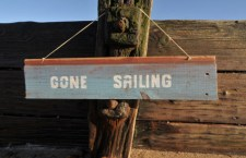 gone sailing sign