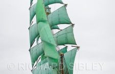 Lerwick Tall Ship with green sails