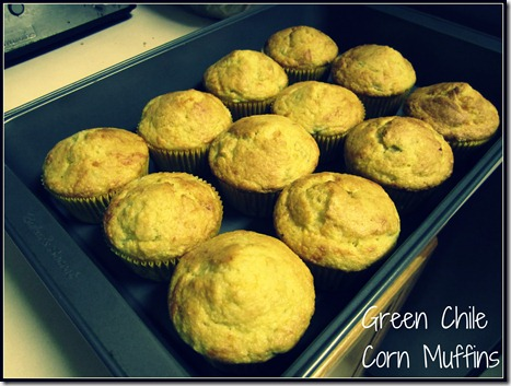 Green Chile Corn Muffins
