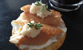 Smoled trout on a Breton cracker