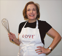 LOVE - the secret ingredient apron for sale now.