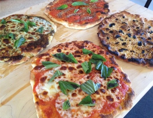 homemade pizzas pesto anchovy truffle margharita