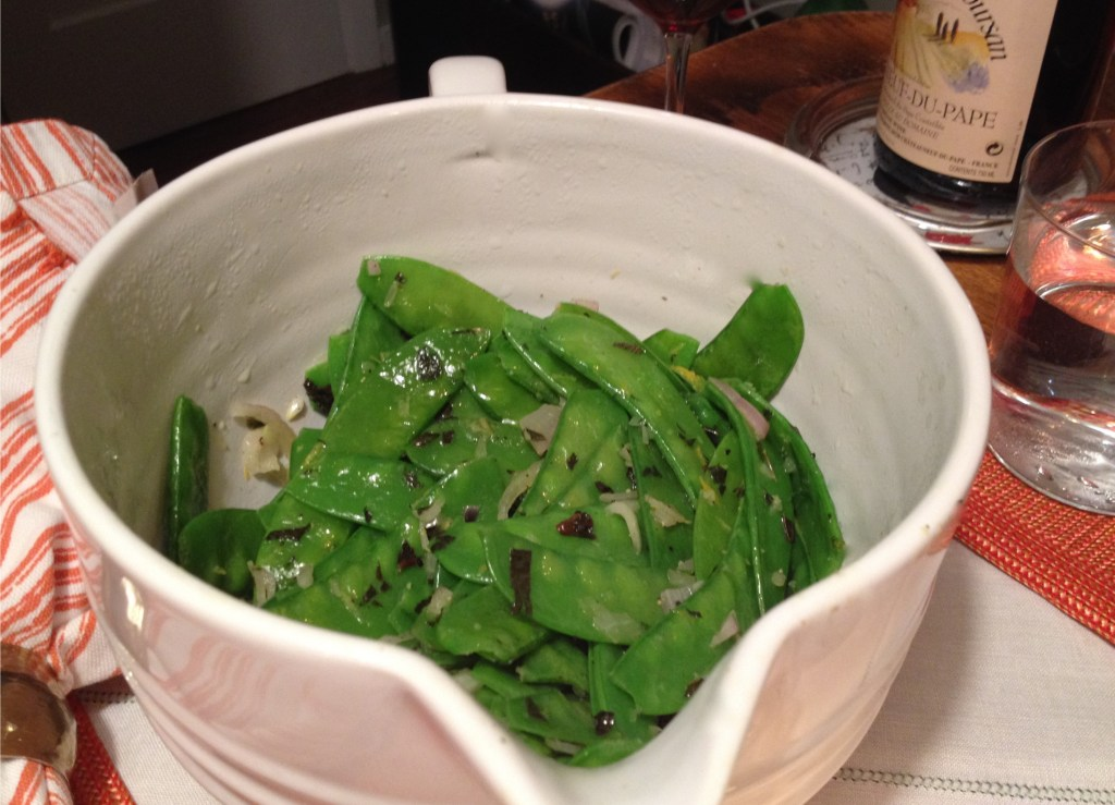 snow peas, ginger, garlic, shallots Photo from Apr 12, 2014