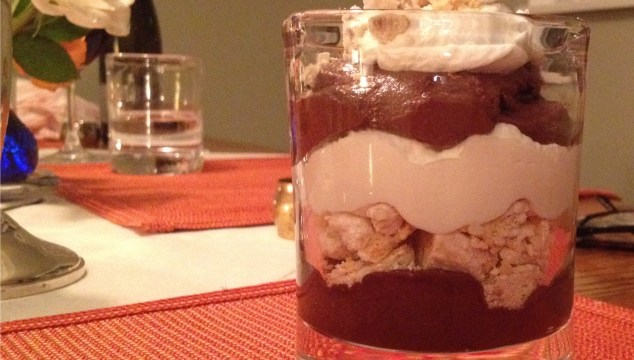 Maddy's Sweet Shop single trifle in a glass cup.
