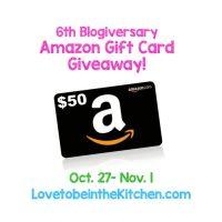 6 Year Blogiversary + $50 Amazon Gift Card Giveaway!