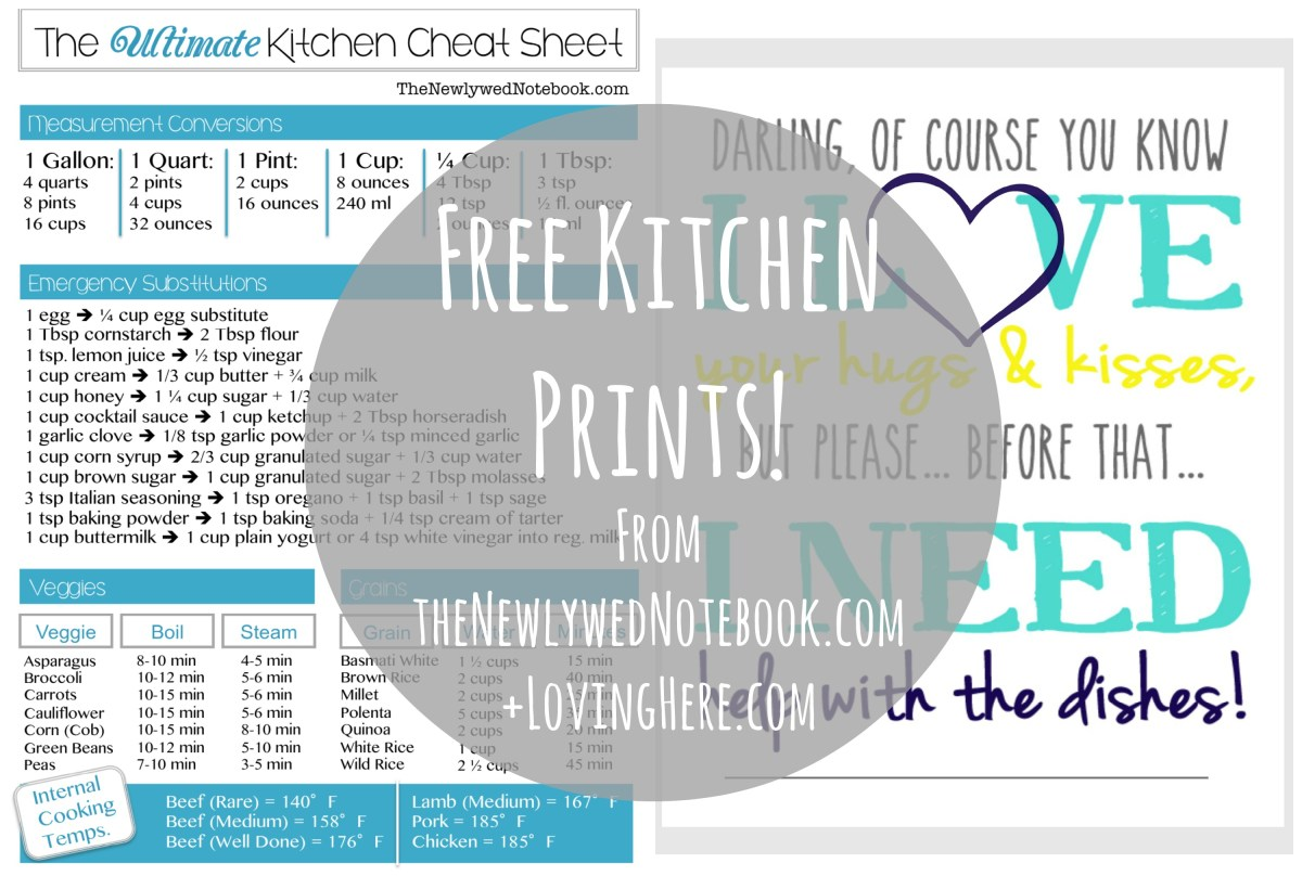 Cute Kitchen Prints...For Free!