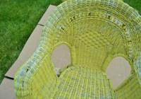 RePainting Wicker Patio Furniture Before