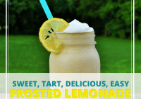 delicious frosted lemonade recipe