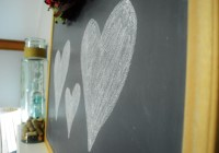 valentine mantle chalkboard hearts decor 2016