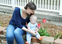 Easter Tulips with Will