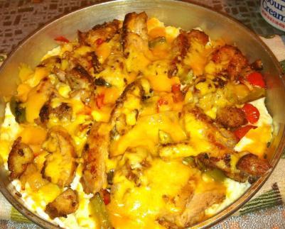 Cheesy Chicken Mash