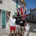 @SteamyWynndows, @AndyMWild & me at our corner in St Lumine