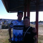 In the team bus area I got to meet the truly legendary David Millar