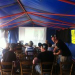 After rushing to St Philbert we were greeted by a beer tent and projector screen... for free! You would be charged £34.65 for this sort of priveldge in the UK!