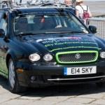 Team Sky car rolling through