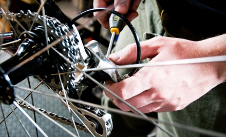 Soft touch of a bicycle mechanic