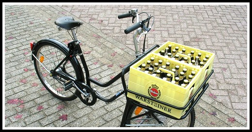 Bicycle beer basket