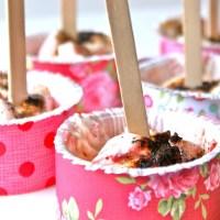 LCHF vaniljeis med jordbærswirl og lakrids :)