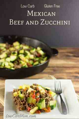 Easy Ground Beef Zucchini Tomato Skillet Dish Cover
