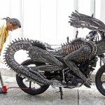 bangkok artist alien predator mortorcycle sci-fi sculpture roongrojna sangwongprisarn ko art shop2