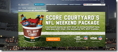 Courtyard NFL Weekend Package
