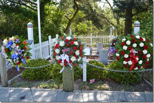British Cemetery wreaths