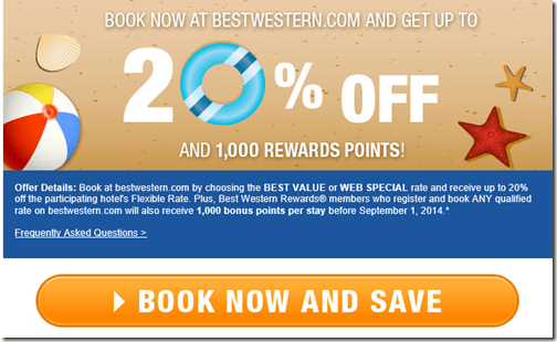 Best Western booking bonus