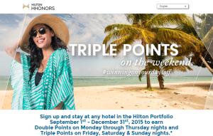 HHonors Triple Points Sep1-Dec31-15