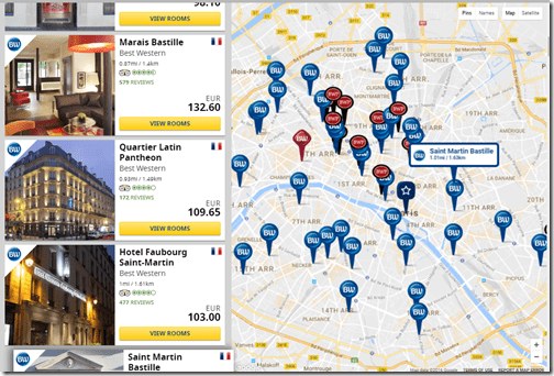 Did you know there are 60 best western hotels in paris for Paris hotel map