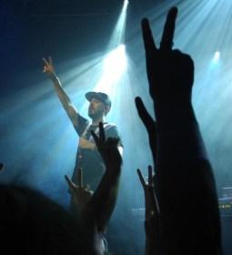 "Mike Shinoda of Fort Minor performing ""Kenji."""