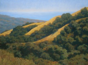 """Leaving Los Padres Forest"" Dotty Hawthorne, pastel, 16"" x 21.5"" unframed, 25"" x 30.5"" framed $1,200 Also available as a giclee, 15"" x 20"" $185"