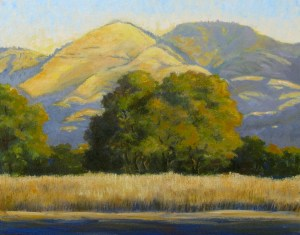 """Morning View Grass Mountain"" Dotty Hawthorne, oil, 11"" x 14"" unframed, 19"" x 22"" framed $775"