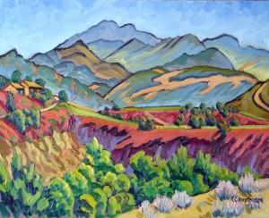 """""""Valley Panorama"""" Ken Christensen, 24″ x 30″ $2,900"""