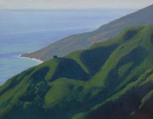 """""""Lopez Point"""" Bruce Everett, oil, 11"""" x 14"""" $700"""