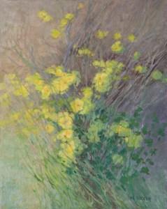 """""""Sourgrass"""" Nancy Becker, oil on linen, 20″ x 16″ $1600"""