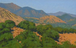"""View from Paradise Road"" Bruce Everett, oil, 11"" x 17"" $750"