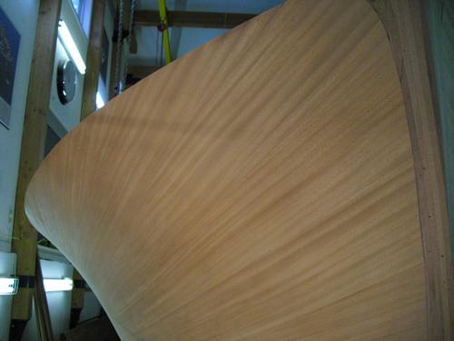 voila....a single VERY wide mahogany plank.......