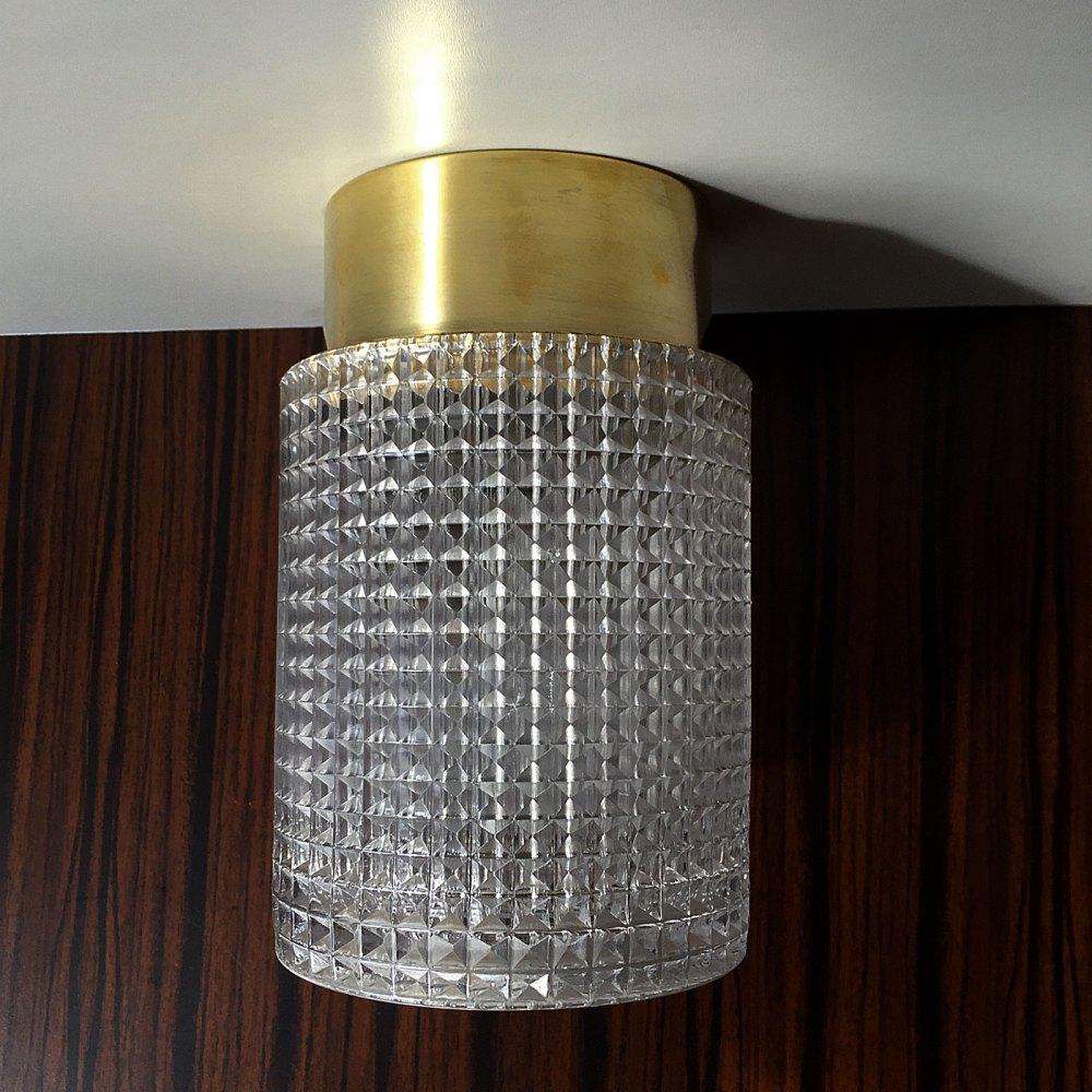 Plafonnier scandinave Carl Fagerlund en laiton et cristal 1960. Une référence du design scandinave. En vente chez ltgmood galerie de luminaires vintage à Paris