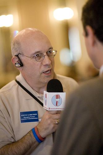 Steve Podcasting At BlogPhiladelphia 2007